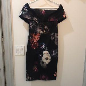 ASOS US 6P floral off the shoulder dress